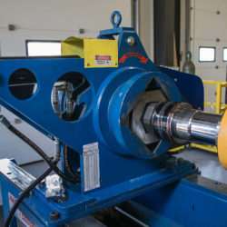 Hydraulic cylinder receiving repair from equipment