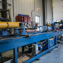 Workbench at highmark mechanical with hydraulic cylinder repair tools and equipment
